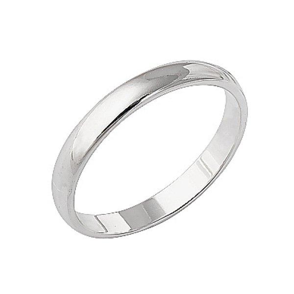 Женские обручальные кольца из белого золота без вставки
